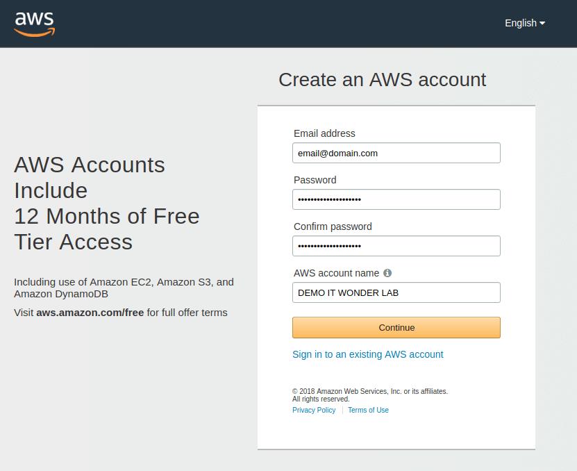 Create An Aws Account For Demos It Wonder Lab